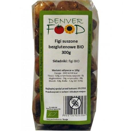 Bezglutenowe Figi Suszone BIO 300g Denver Foods