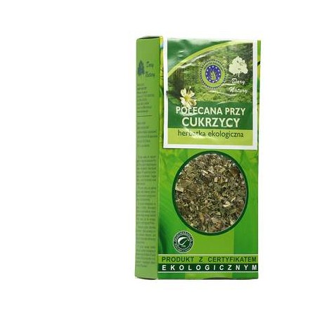 Ekologiczna Herbatka Polecana przy Cukrzycy 50g Dary Natury
