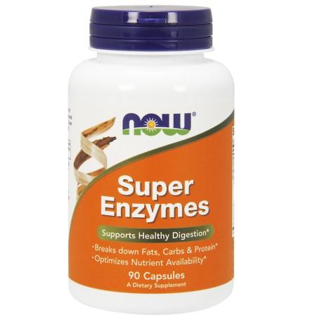 Super Enzymes Enzymy Trawienne 90tabl. NOW